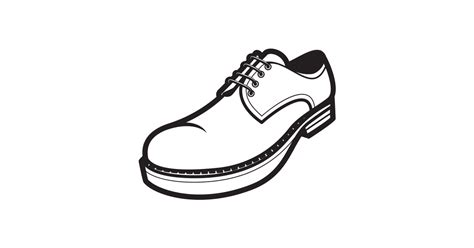 black  white man shoe  vector  png