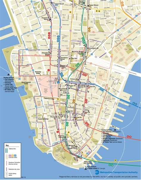 manhattan city map lower manhattan map go nyc tourism guide