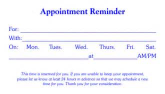 Appointment Card Template Word 4 Free Appointment Card Templates Word Excel Pdf Formats