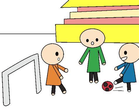 dibujos de niños jugando soccer dibujo de ni 241 os jugando a futbol pintado por en dibujos