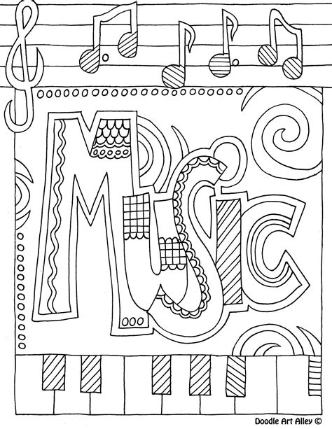 Galerry water music coloring page
