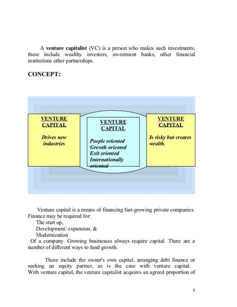 Ut Mba To Venture Capital by Current Scenario Of Venture Capital