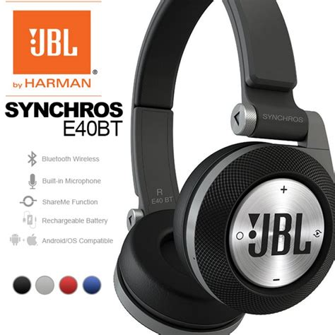 Headset Jbl E40bt jbl synchros e40bt purebass bluetooth wireless headphone
