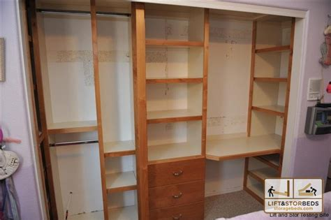 Custom Wood Closet Systems by Storage Beds Wall Beds Beds Diy Lift Stor Beds