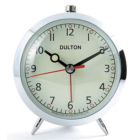 clock buy buy dulton alarm clock chrome online purely wall clocks
