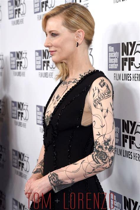 cate blanchett tattoo cate blanchett in aouadi at the quot carol quot nyff