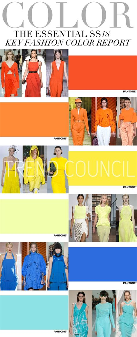 7 Trendy Fashion Colors For Winter by Trends Trend Council Key Fashion Colors Ss 2018