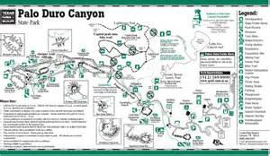Palo Duro Canyon State Park Map by Palo Duro Canyon Canyoneering Summitpost