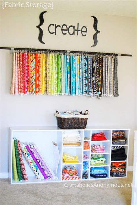 organizing yourself 50 clever craft room organization ideas fabric organizer