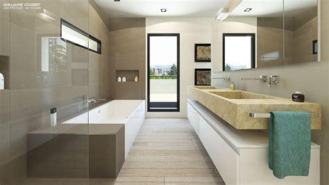 Maison Moderne Interieur Salle De Bain interieur maison en bois salle de bain