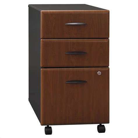 bush series a 60 wood credenza w 3 drawer file cabinet