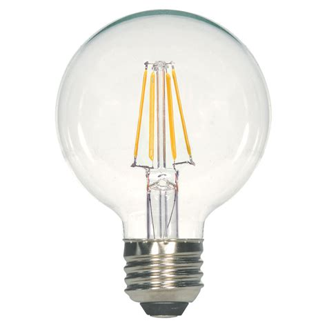 clear led light bulbs clear g25 led globe light bulb 4 5 watts