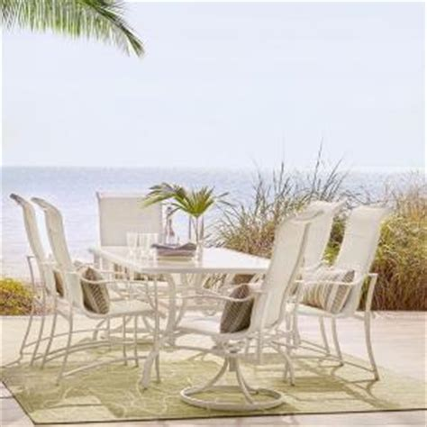 hton bay aluminum patio furniture outdoor dining set at furniture complete