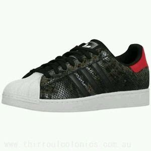 adidas superstar ii 2 snake skin shoes black white size 10 5 us ebay