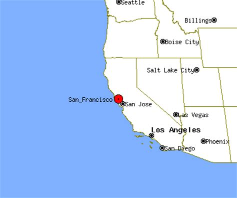 california map of san francisco where is san francisco california on map