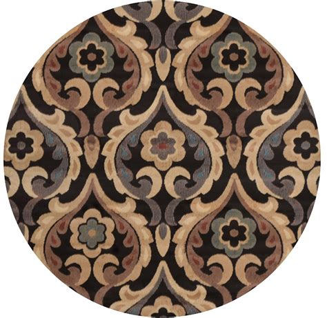 Brown Transitional 8x8 Area Rug Modern Floral Carpet Modern Floral Area Rugs