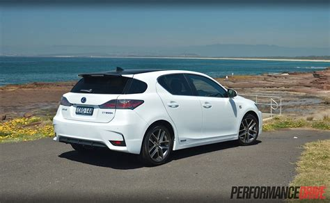 lexus ct200h rear lexus ct 200h f sport review performancedrive