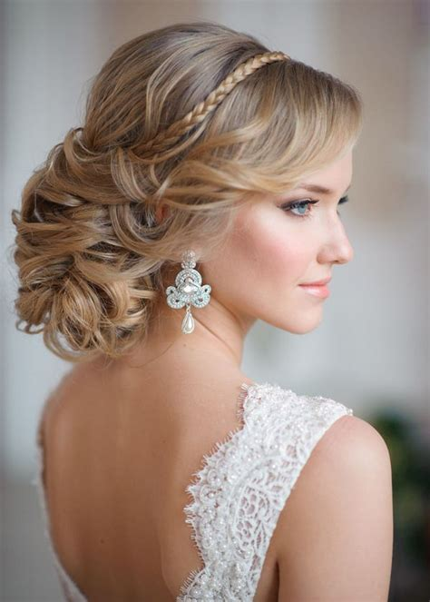 28 striking wedding hairstyle ideas deer pearl flowers part 2