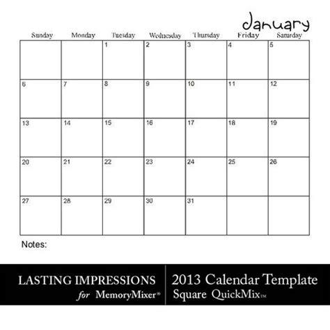 calendar large square blank calendar design 2018
