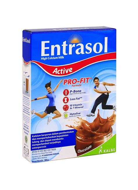 Entrasol Untuk Diet Entrasol Active Bubuk Chocolate Box 160g Klikindomaret