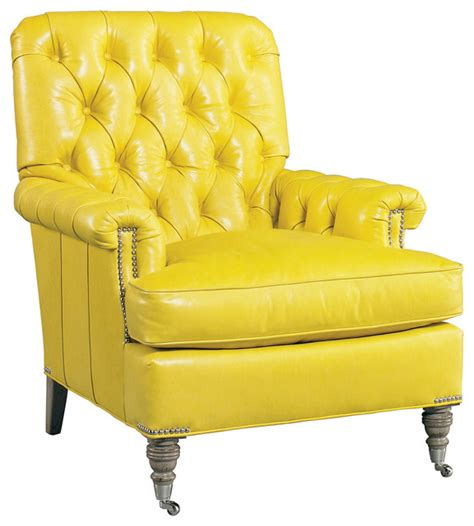 Yellow Tufted Chair by Palomino Tufted Leather Chair Yellow