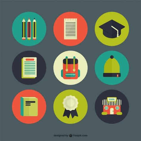 free vector graphic design vector icons pack download school icon pack vector free download