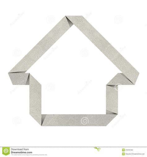 House Origami - house origami recycled papercraft stock illustration