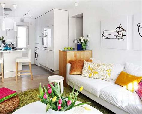 decorating small spaces blending colorful home accessories and white apartment ideas