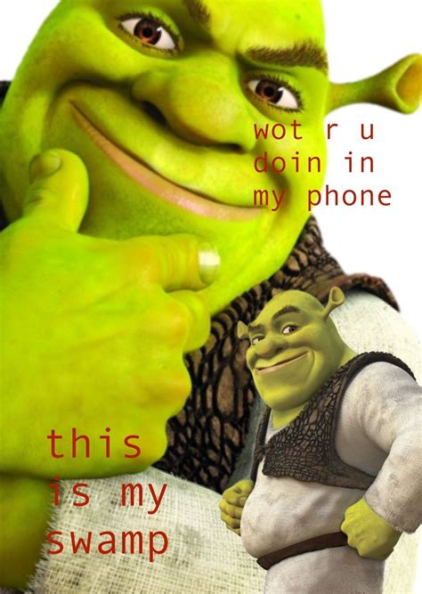homemade shrek lockscreen   ppl   ur swamp
