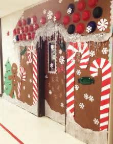 christmas holiday door decoration for school gingerbread
