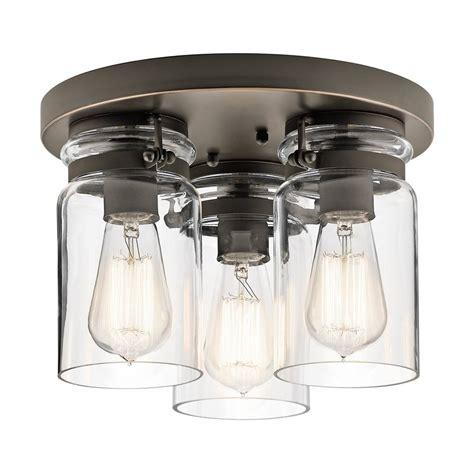 brinley kichler kitchen lighting led ceiling ideas shop kichler lighting innes in white flush mount indoor