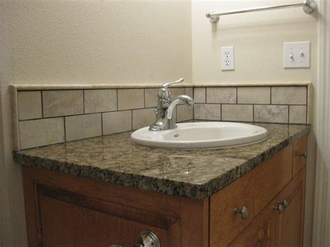 Bathroom Sink Backsplash Ideas by Clipper Masonry