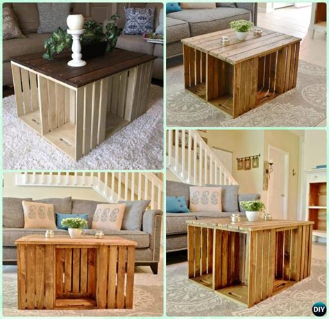 diy crate couch diy wood crate coffee table free plans instructions