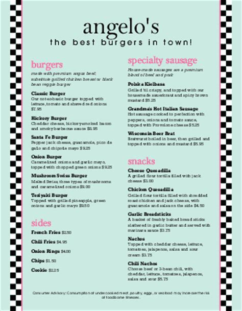 fancy restaurant menu template burger restaurant menu letter burger menus