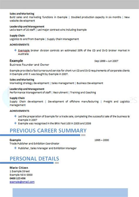 Resume Assistance Canberra Sector Executive Resume 187 Service Resumes 1300 283368