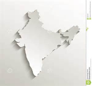 india map card paper 3d natural royalty free stock