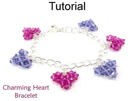 pattern heart bracelet beading tutorial heart bracelet crystal hearts beading