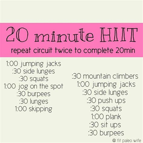 20 minute at home hiit workout options for no equipment