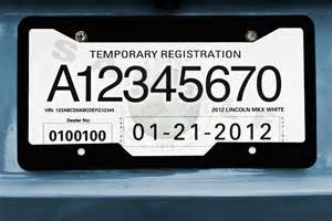 new car temporary registration license plate paper the smarter way to supply your workday