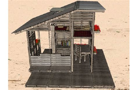 plans to make a pallet house looks cool but there s something that makes it awesome boredombash