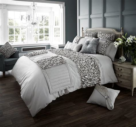 silver bedding verina duvet set silver