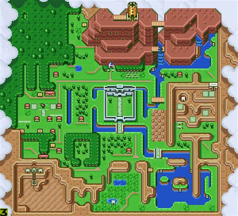 legend of zelda bomb map zelda a link to the past map