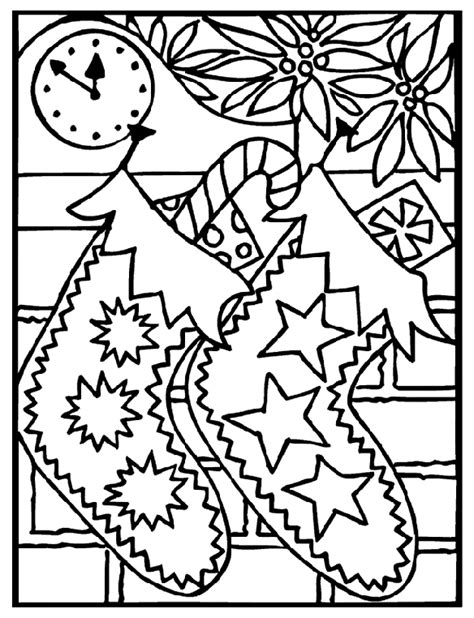 christmas stockings coloring page crayola com
