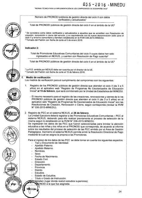 norma tecnica 2016 inmunizaciones norma tecnica compromisos de desempe 209 o 2016