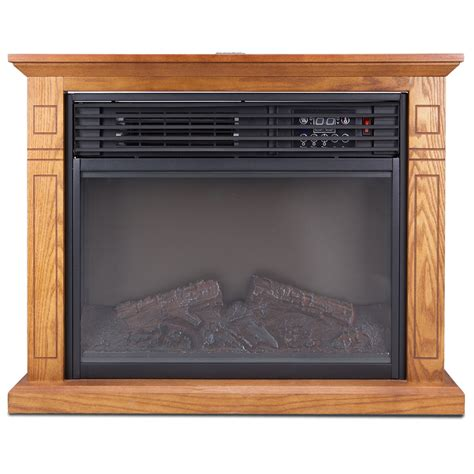 large electric fireplace with mantel large room electric quartz infrared fireplace heater