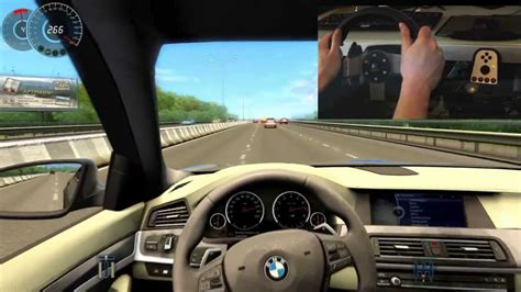 drive online bmw m5 f10 city car driving simulator g27 300 km h big