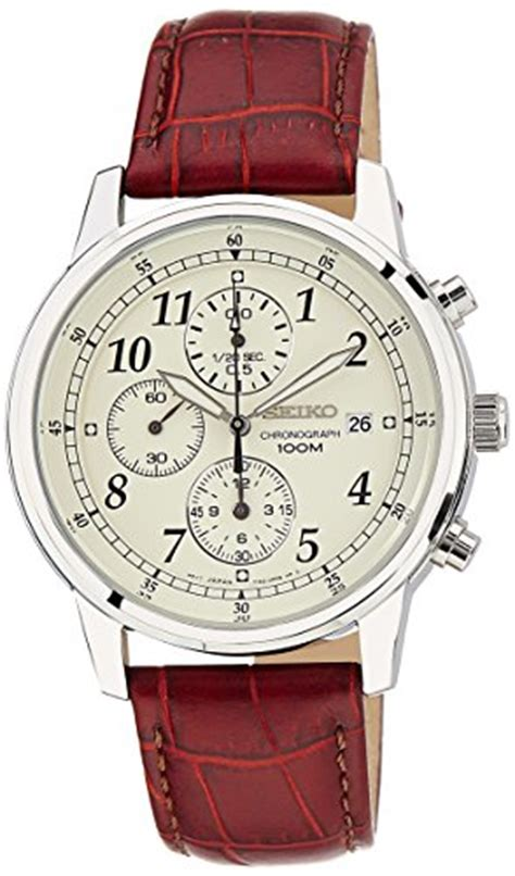 Seiko Velatura Silver Combi Black Brown Leather 1 seiko s sndc31 classic stainless steel chronograph with brown leather band the