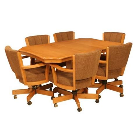 Caster Chairs Dining Set Cr Joseph 9105gc Dining Set With Swivel Tilt Caster Chairs Wood Dinette Sets
