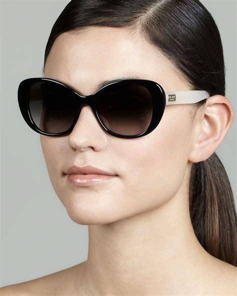 Kate Spade Sunnies 1 kate spade new york emery colorblock cateye sunglasses in black lyst