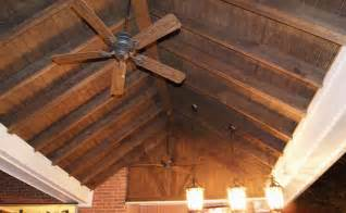 exposed rafters with t1 11 panels ceiling finish flickr